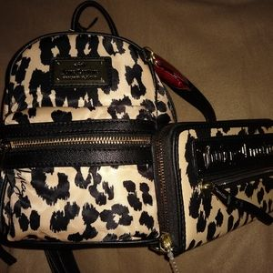 JUICY COUTURE Glam Rock Leopard Backpack & Wallet